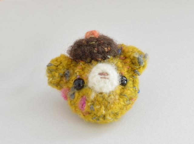 ブローチ|ベレー帽BEAR yellow