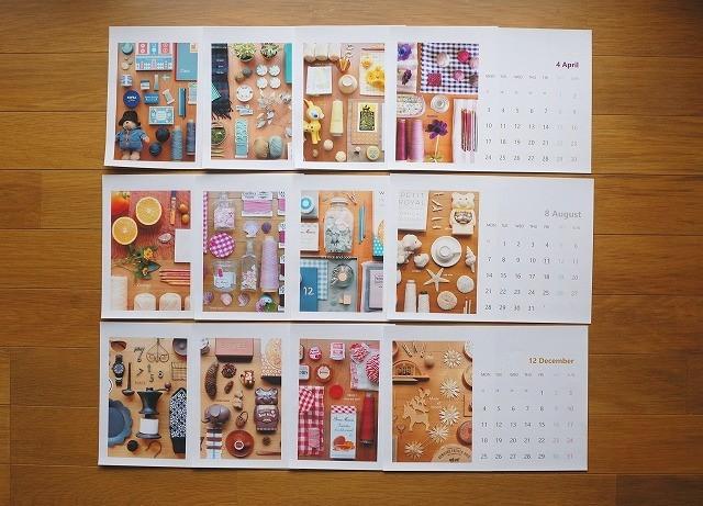 【rosa8524さまリクエスト品】2017年カレンダー B5サイズ 横