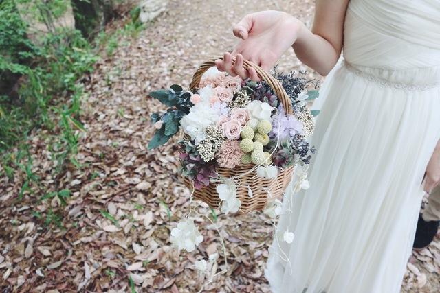 [Hare] basket bouquet