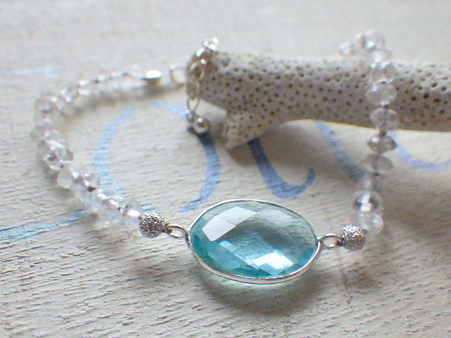 Aquamarine sea bracelet   ��������С� �������ޥ��Υ֥쥹��å�
