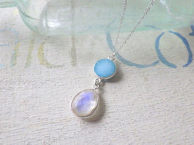 Sand bar  necklace *sv925*