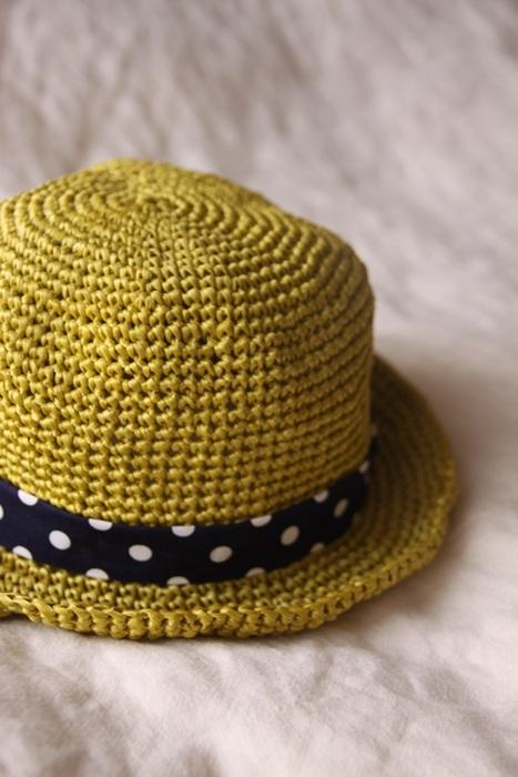 なつのコドモ帽子 for Baby シトラスグリ−ン