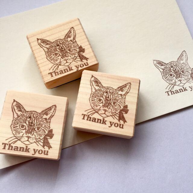 猫スタンプ(Thank  you)