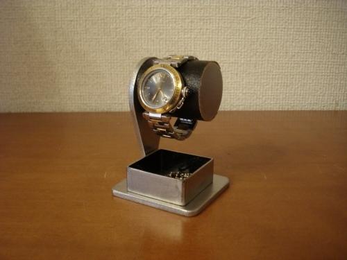 腕時計スタンド ブラックコルク腕時計スタンド 角トレイバージョン ak-design