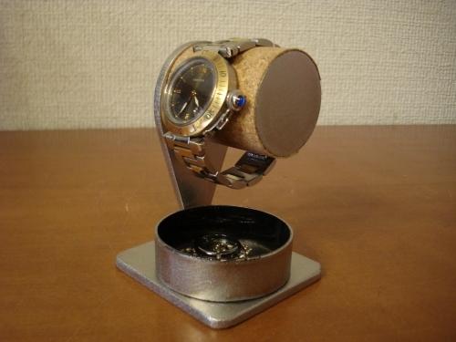 腕時計スタンド 1本掛け腕時計スタンド 黒丸トレイバージョン ak-design