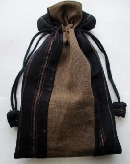 着物リメイク 酒袋で作った巾着袋 1804