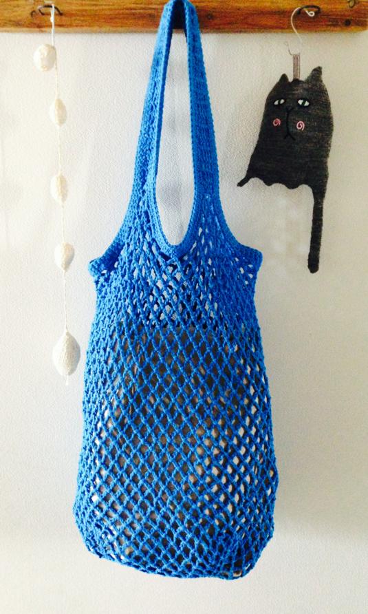 Blueあみバッグ