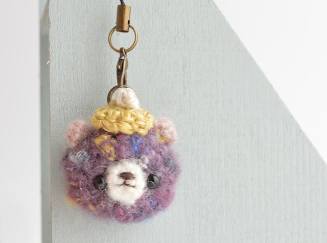 プチあみぐるみストラップ|purple bear