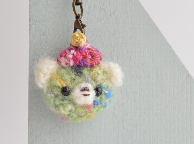 プチあみぐるみストラップ|green bear!