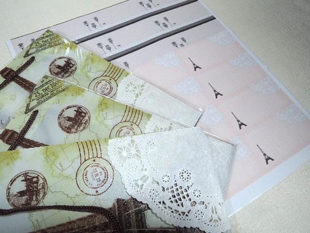 『My favorite  collection』ラッピングアイテム☆ラッピングバッグ3枚+シール2種類:24枚入りです(^^♪(1286)