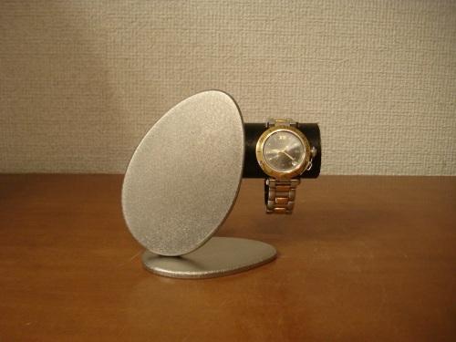 ブラックかわいいダブルエッグ腕時計スタンド  台座もたまごです