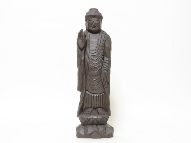 円空仏 摸刻:阿弥陀如来(高さ:40センチ 作品番号:an20160225)