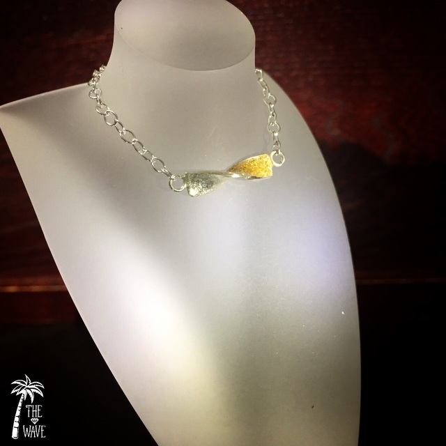 Wave - 18K Gold x Silverのネックレス