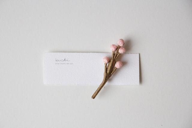 ito tubu brooch【awai pink】