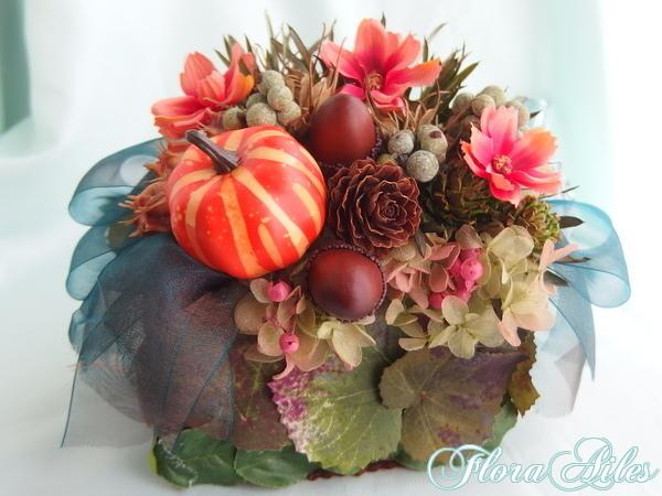 秋色お庭の世界はオーガンジーリーフパ...