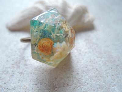 Seascape Hexagon Ring