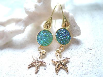 mermaid's lagoon earrings--starfish--