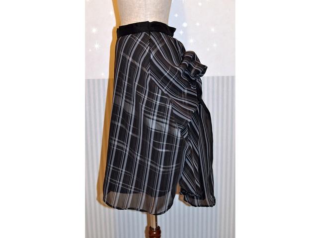 金魚スカート ブラックチェック