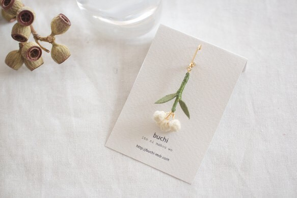ito hana piace/earring【片耳用・オリーブの花】