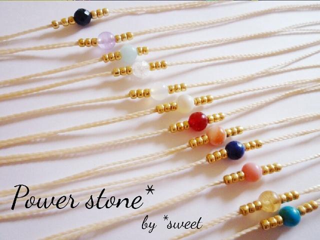【数量限定】Power stone*ブレスレット 誕生石シリーズ?(アンクレット変更可です)