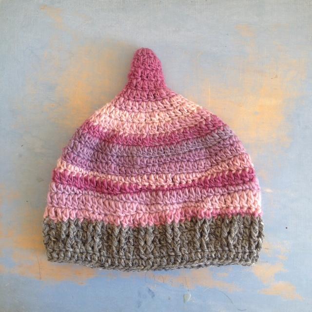 ピンクの波 とんがり帽子 LL