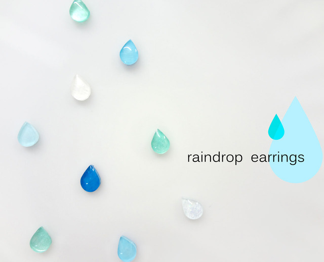 ... raindrop earrings ... イヤリング