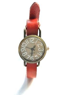 cheap for discount fab63 2a50f 木村様専用 ベルト赤 腕時計 時計アクセサリー 革ベルト時計 アンティーク 1本売り 色の選択自由