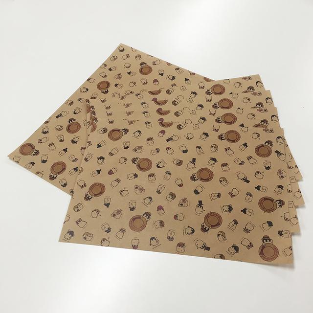 帽子屋さん 包装紙 B4サイズ5枚セット