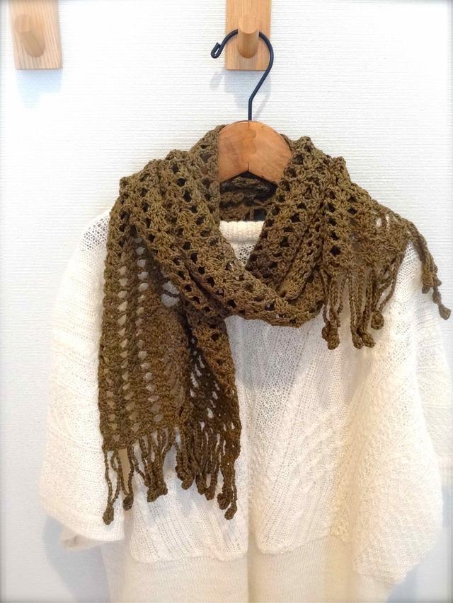 模様編みのマフラー by u-ya兎屋