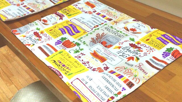 ランチョンマット*収穫祭(リバーシブル)