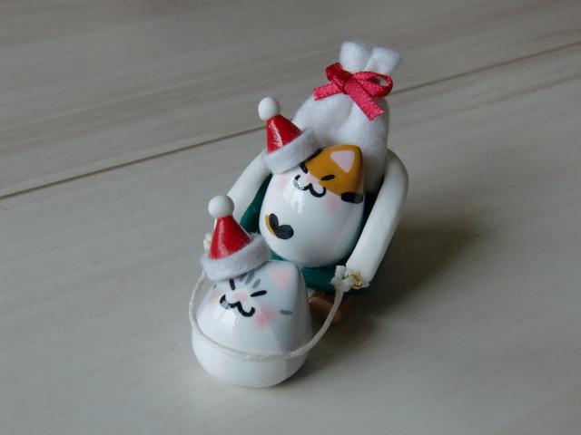送料無料♪ クリスマス豆ネコサンタセット♪