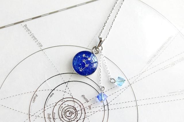 カシオペヤ座−『星鏡』ペンダント