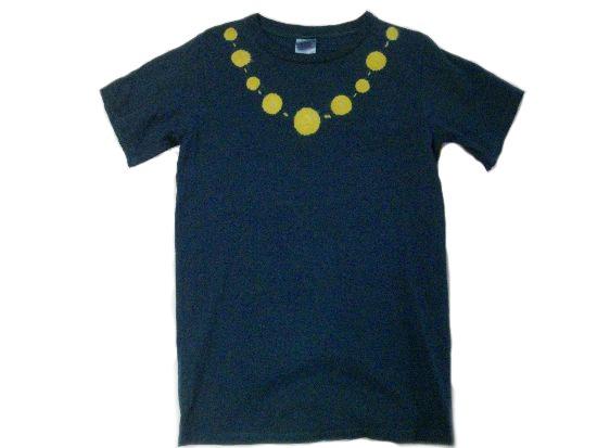 草木染オーガニックTシャツ「首飾り」