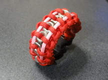 ナット巻 Nut Paracord Bracelt Red