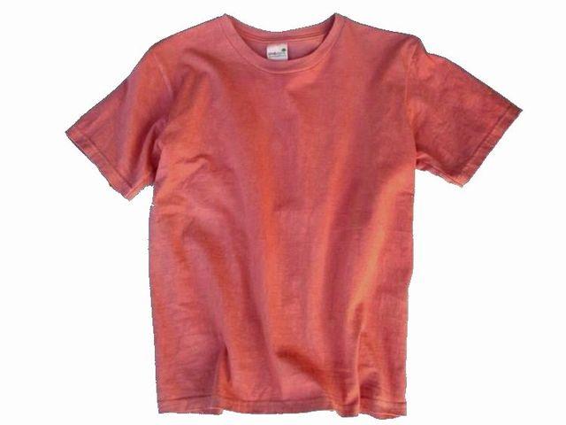 草木染オーガニック無地Tシャツ「紅梅色」