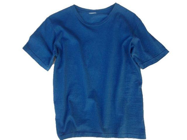 草木染オーガニック無地Tシャツ「群青色」