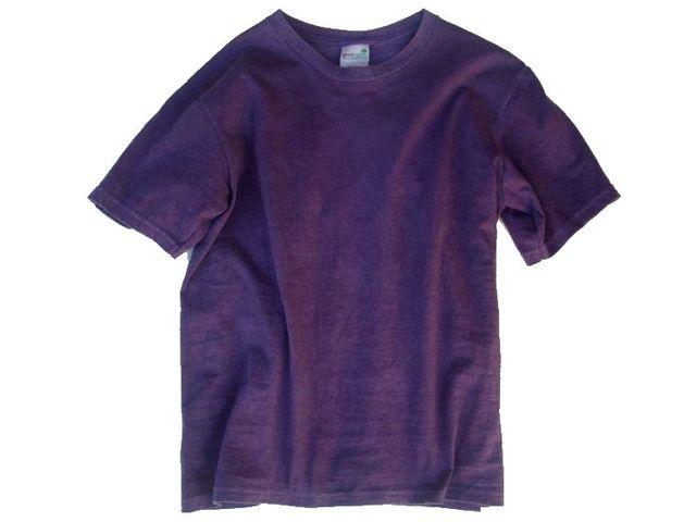 草木染オーガニック無地Tシャツ「葡萄色」