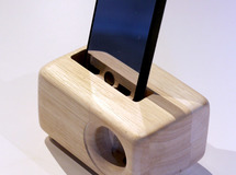 《期間限定 値下げ》木製iPhoneスピーカーAcoustic iPhone WoodSpeakerStand(5/5S/SE/6/6S用)