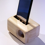 木製iPhoneスピーカーAcoustic iPhone WoodSpeakerStand(5/5S/SE/6/6S用)