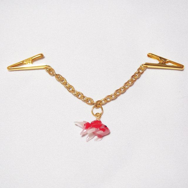 ショール飾り 薄手用 赤い金魚