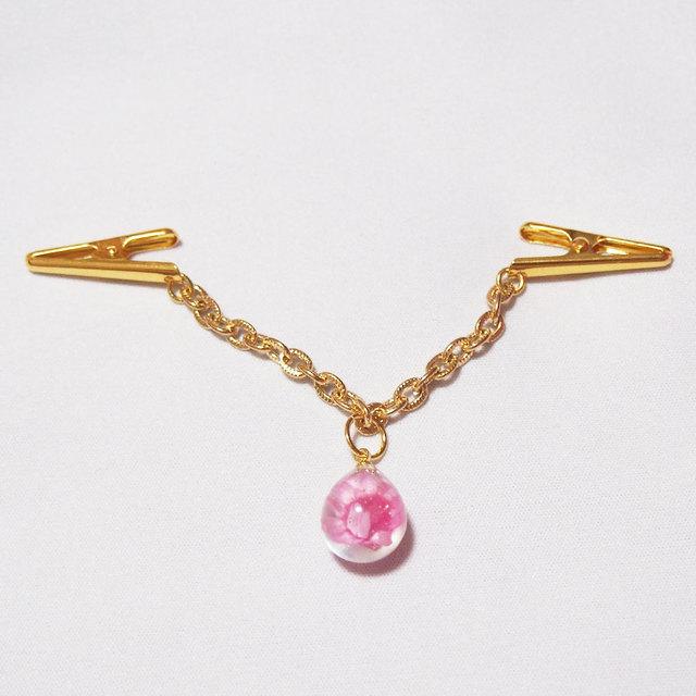 ショール飾り 薄手用 ピンクの水中花