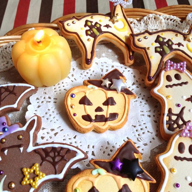 ハロウィンパーティー!『かぼちゃ』クッキーブローチ