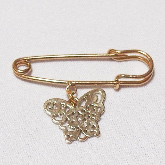 金の蝶 ピン ゴールド