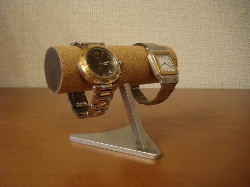 2本掛け丸パイプデザイン腕時計スタンド ak-design