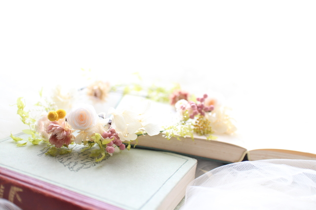 bride * head dress  #108 〔花冠×紫陽花×ブライダルヘッドドレス〕