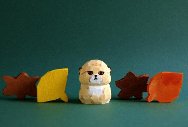 木彫り人形 チーターの子供  [MWF-202]