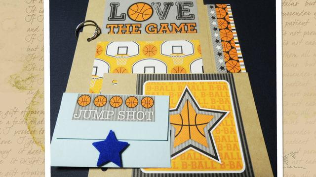 引退、卒業記念に*寄せ書きミニブック<428>バスケットボール
