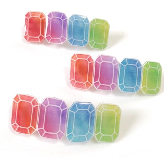 4色 宝石ミニバレッタ
