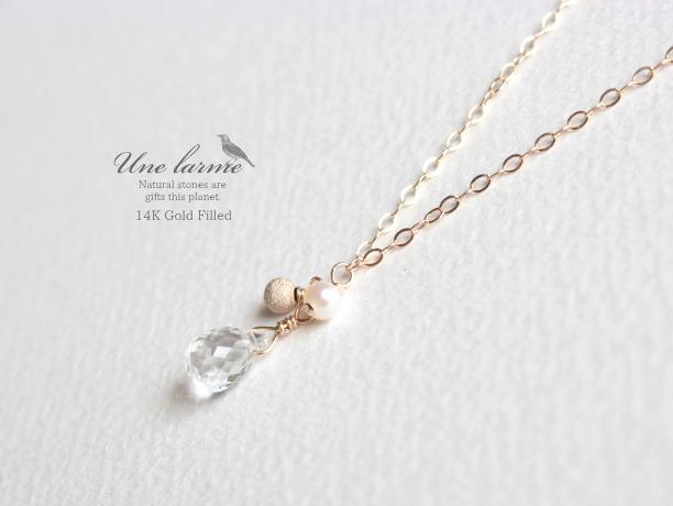 Chance 14KGF ネックレス/天然クリスタル宝石質