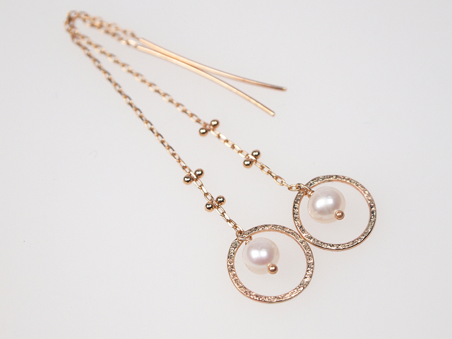 K10 Halo Moon Pearl Earrings